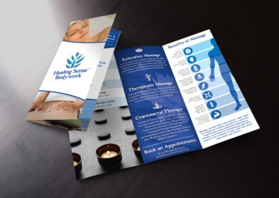 Healing Sense Bodywork Massage Brochure
