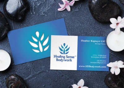 Healing Sense Bodywork Business Cards