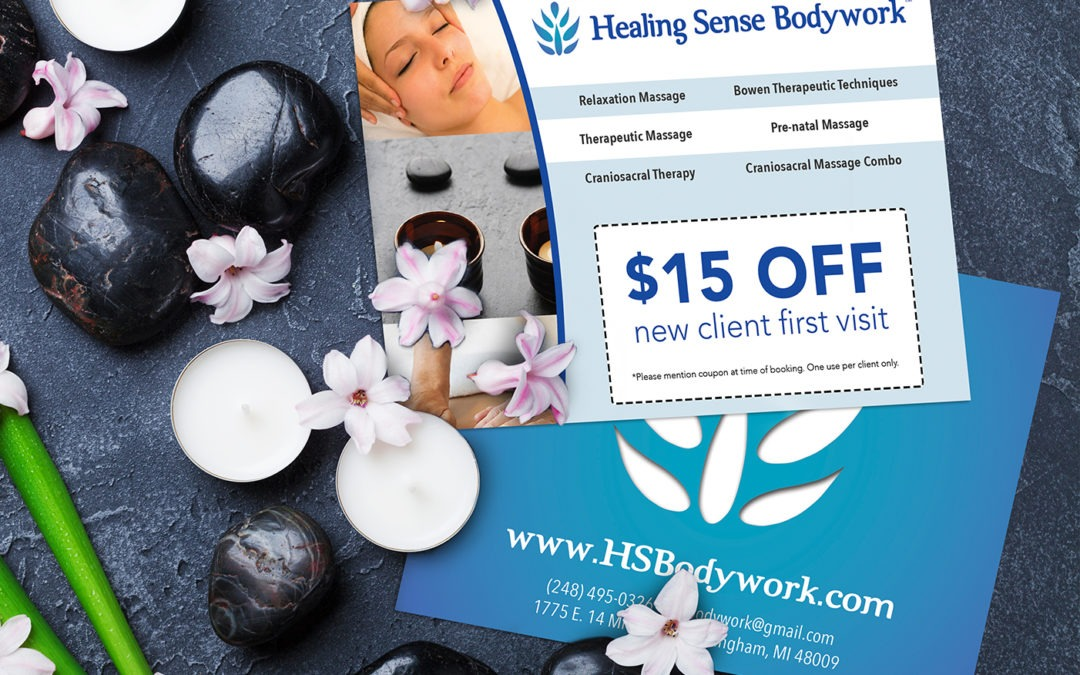 Healing Sense Bodywork Coupon Flyers